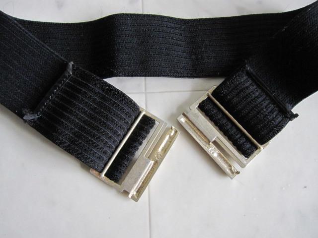 お洒落 ラバーベルト パーティー ベルト 黒 ドレス 幅5cm しっかり太め ドレス ベルト ゴールド バックル ブラック 伸縮性あり レア 特 得_画像9