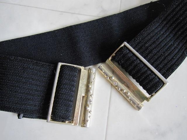 お洒落 ラバーベルト パーティー ベルト 黒 ドレス 幅5cm しっかり太め ドレス ベルト ゴールド バックル ブラック 伸縮性あり レア 特 得_画像10