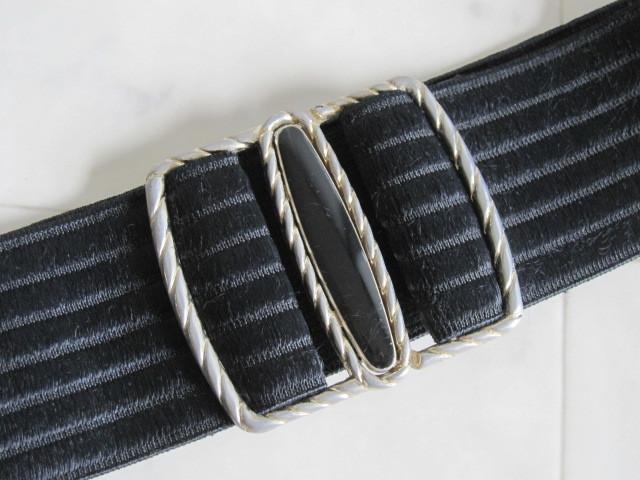 お洒落 ラバーベルト パーティー ベルト 黒 ドレス 幅5cm しっかり太め ドレス ベルト ゴールド バックル ブラック 伸縮性あり レア 得 特_画像4