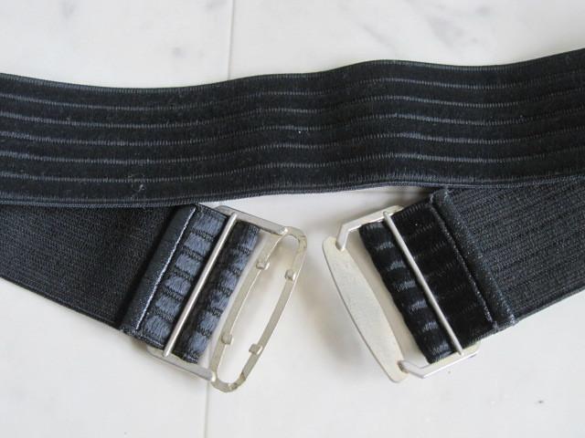 お洒落 ラバーベルト パーティー ベルト 黒 ドレス 幅5cm しっかり太め ドレス ベルト ゴールド バックル ブラック 伸縮性あり レア 得 特_画像5