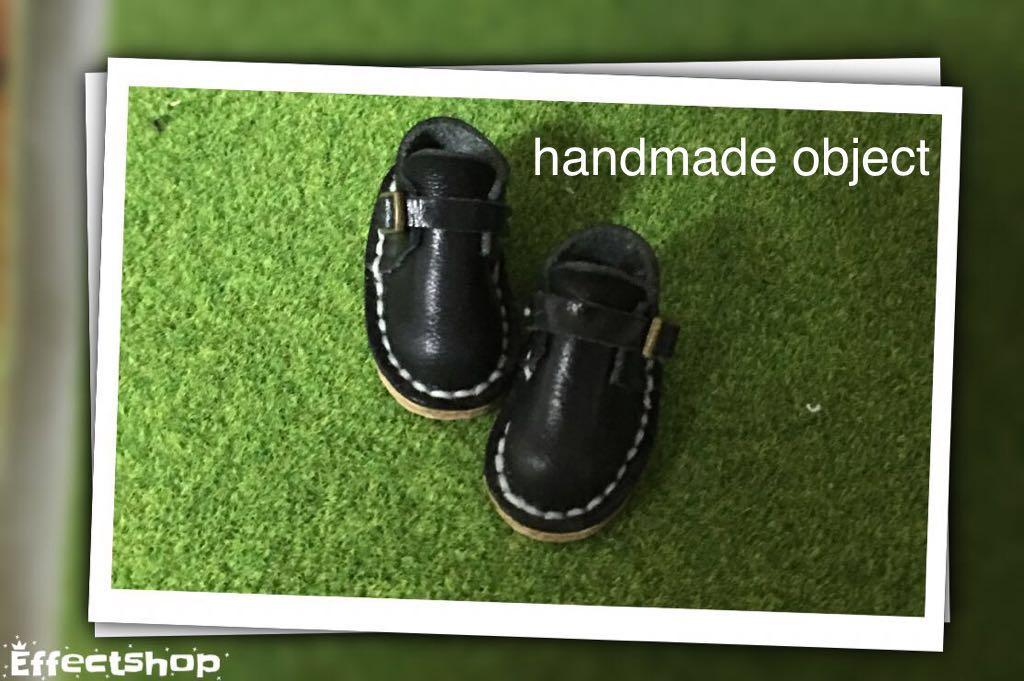 ハンドメイド 革靴 ブーツ ミニチュア 栃木レザー使用 (ピュアニーモS サイズ) ブラック 黒