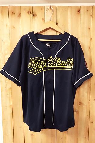 大きいサイズ 水樹奈々 LIVE DIAMOND 2009 ベースボールシャツ XL 美品 nm7