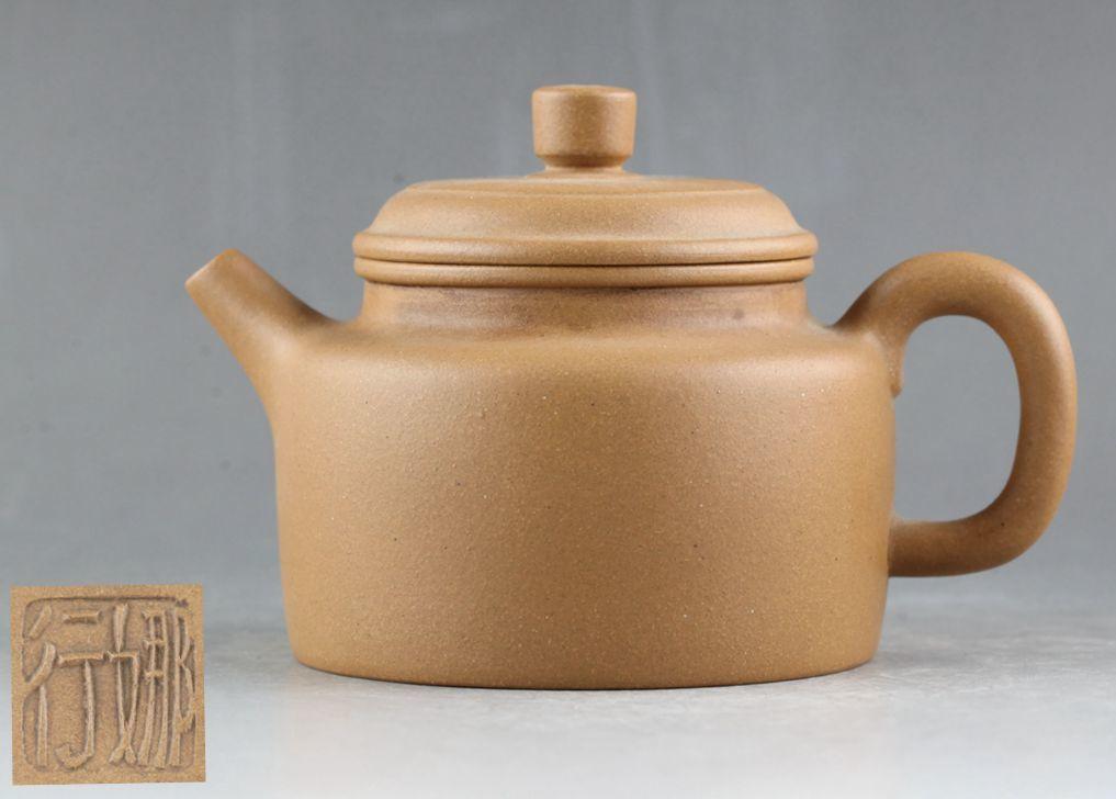 中国宜興 紫砂 白泥 茶壷 急須 在銘 煎茶道具_画像1