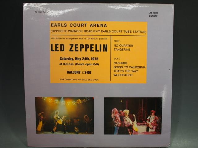 ◆LED ZEPPELIN【EARLS COURT】ブート盤 EUROPE LZL19775 レッドツェッペリン_画像2