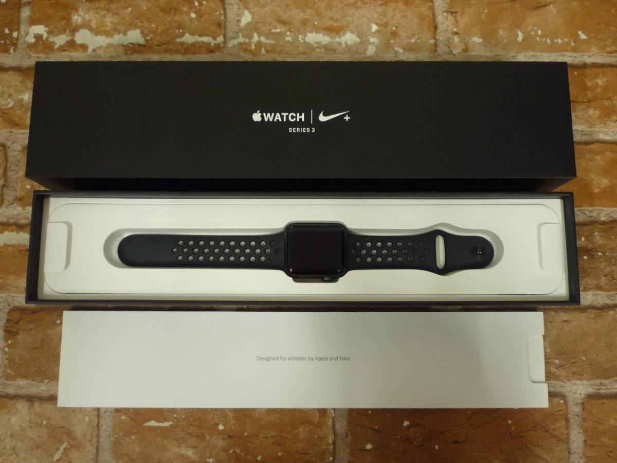 ホワイトNikeスポーツバンド 42mm Nike+ Apple Watch Series 2 【中古】 スペースグレイアルミニウムケース アップル 【送料無料】 フラットシルバー/