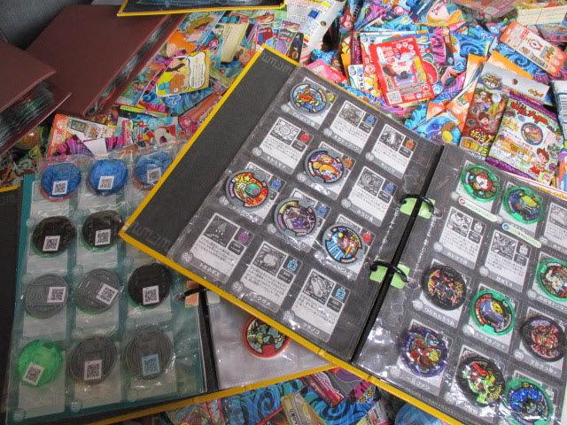 ◆妖怪ウォッチ カード 約5㎏以上◆妖怪メダル ファイル8冊付き バトル トレカ キラあり まとめ 大量 セット♪r-15_画像4