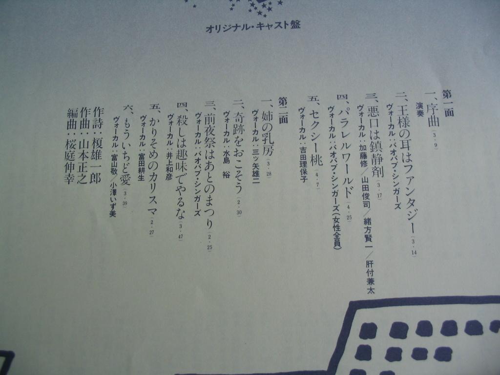 鮮LP.王様の耳はファンタジー。榎雄一郎。声優。帯付美麗盤_画像4