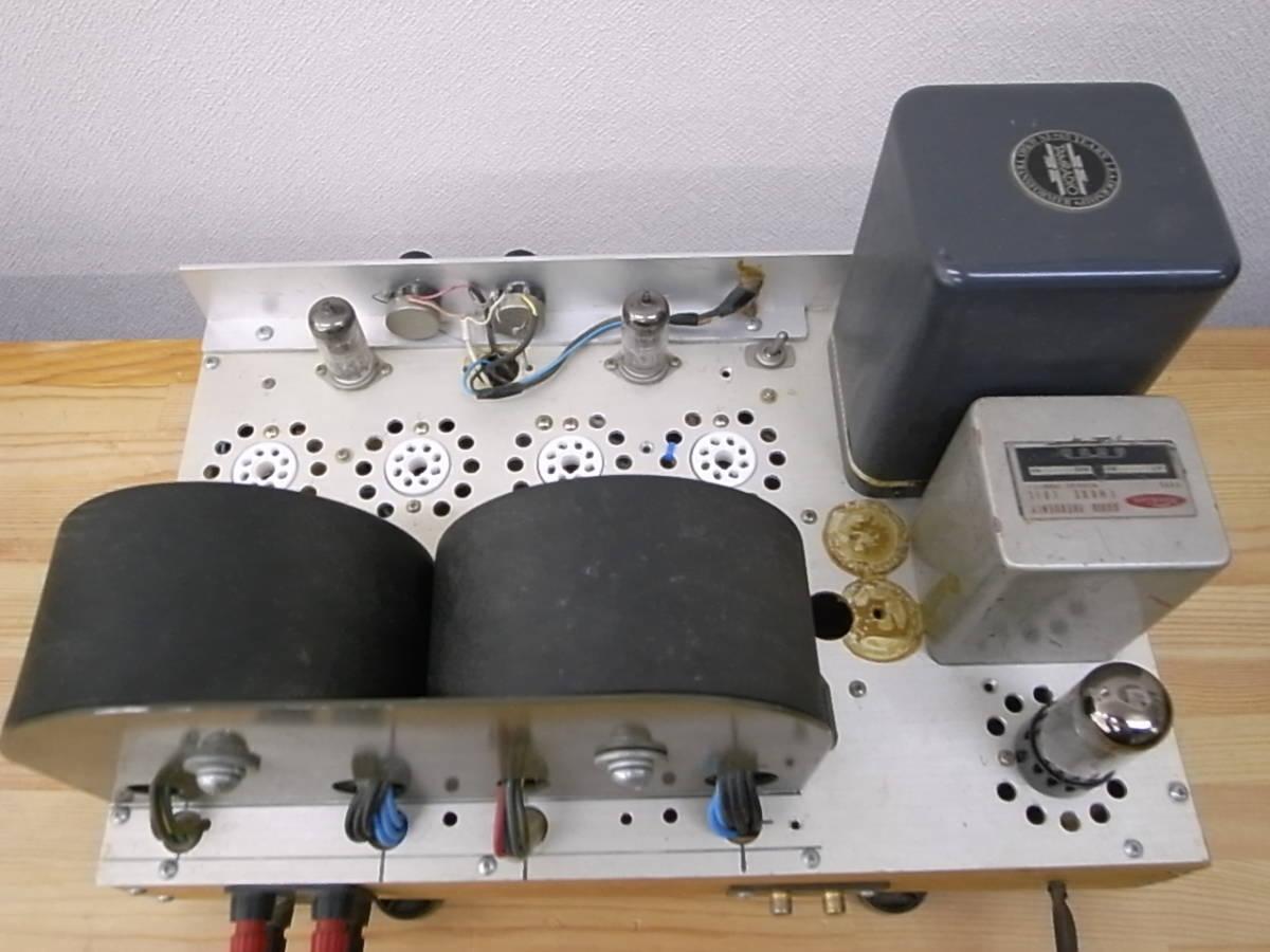 【ジャンク】 自作真空管アンプ PLITRON出力トランス付き 部品取りにどうぞ KT-88で動作確認済_画像7