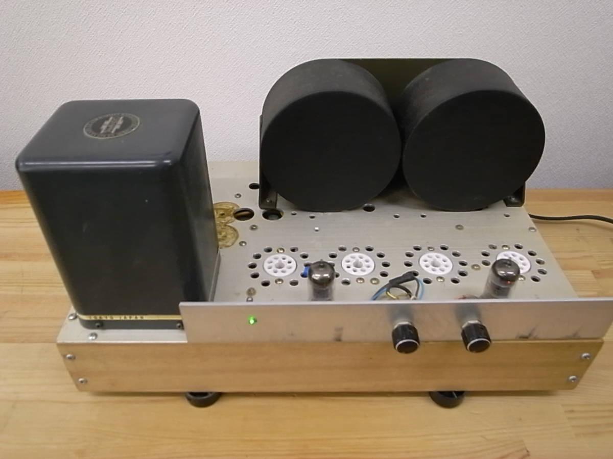 【ジャンク】 自作真空管アンプ PLITRON出力トランス付き 部品取りにどうぞ KT-88で動作確認済