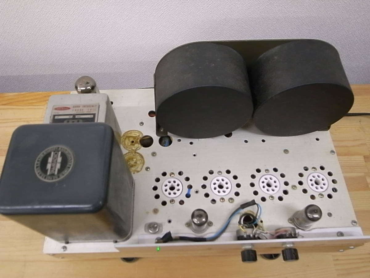 【ジャンク】 自作真空管アンプ PLITRON出力トランス付き 部品取りにどうぞ KT-88で動作確認済_画像2