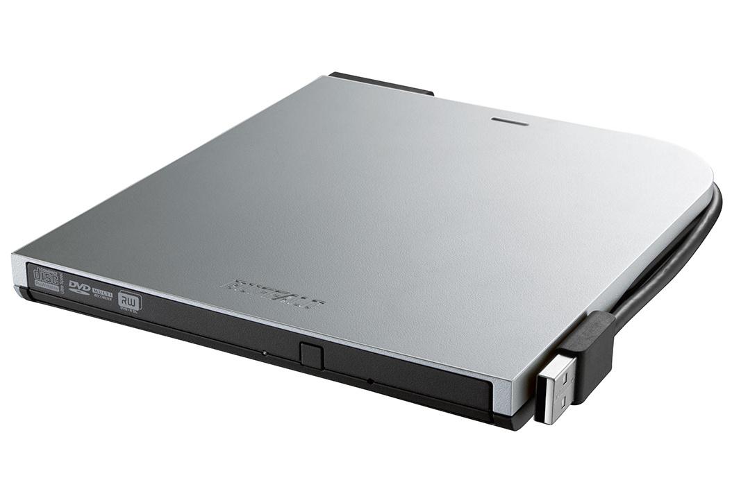 *BUFFALO BRXL-PT6U2V-SV - BDXL対応USBポータブルブルーレイドライブ スリムタイプ Windows/Mac両対応 シルバー