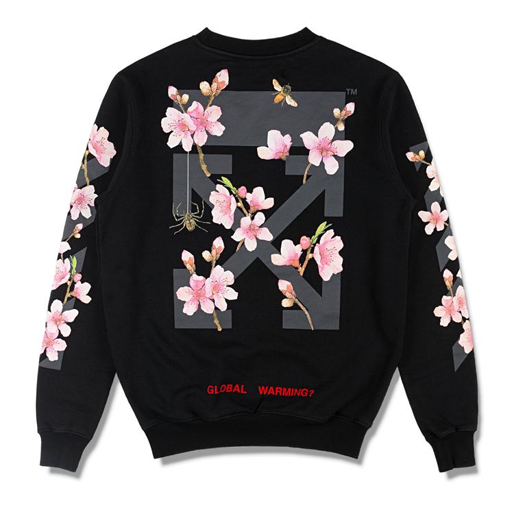 17AW OFF-WHITE オフホワイト Diag Cherry Oversize Sweatshirt スウェット 入札前ご連絡要_画像5