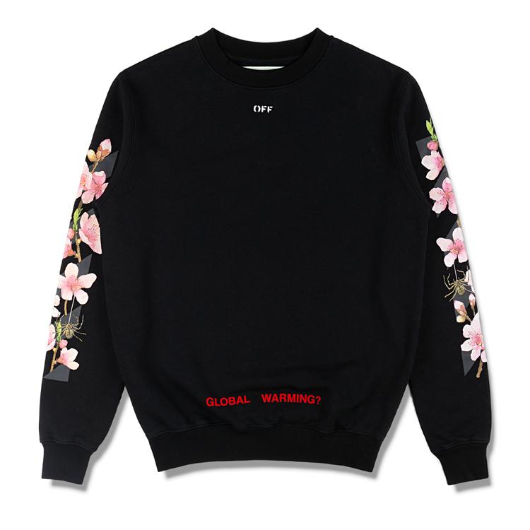 17AW OFF-WHITE オフホワイト Diag Cherry Oversize Sweatshirt スウェット 入札前ご連絡要_画像4