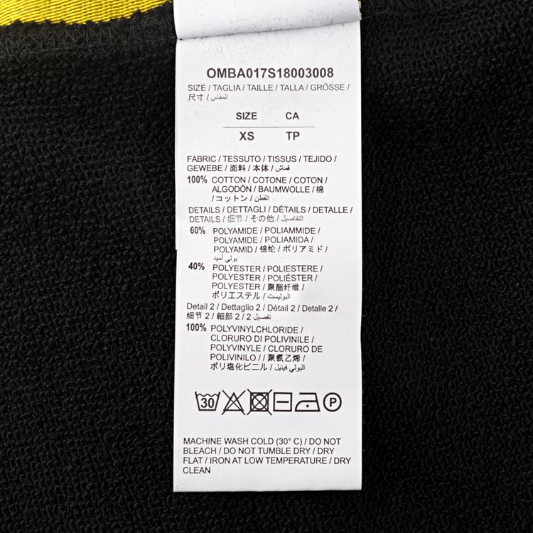 18SS OFF-WHITE TAPE OVER CREWNECK / BK オフホワイト スウェット 入札前ご連絡要_画像9