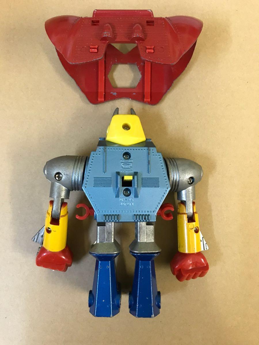ブルマァク ジンクロン UFO戦士ダイアポロン トラングー ヘッダー レッカー 3体合身セット 当時物_画像10