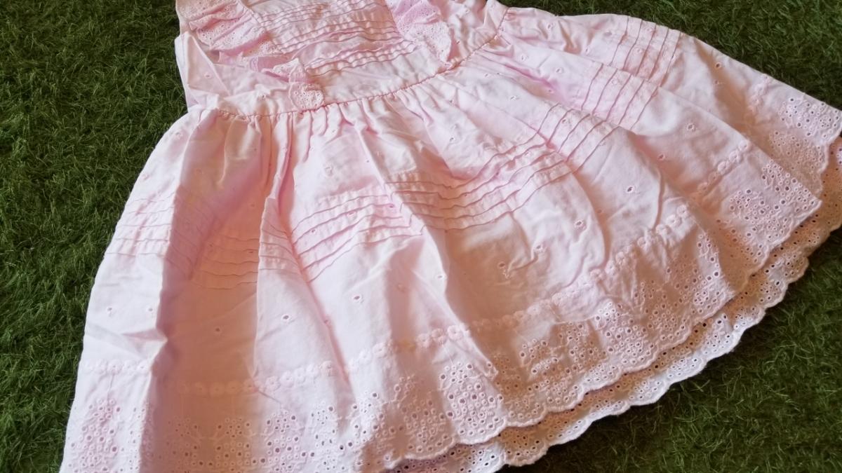 【送料無料】H&M ワンピース ピンク 女の子 フリル コットン素材 12M-18M 86cm