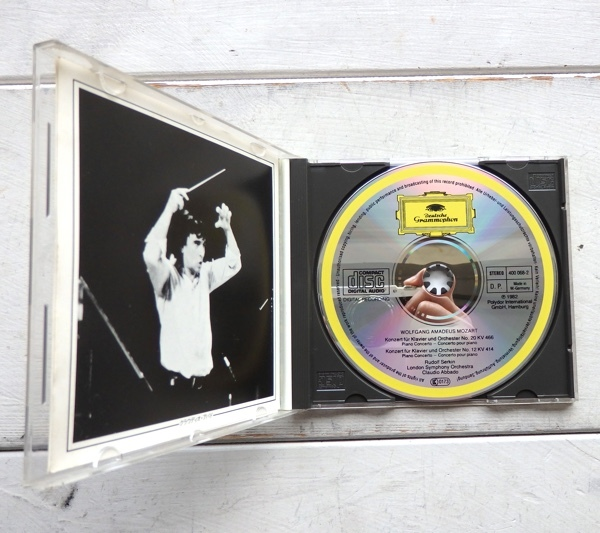 CD モーツァルト ピアノ協奏曲 第20番 第12番 ゼルキン アバド ロンドン交響楽団 F35G-50081 帯付_画像3