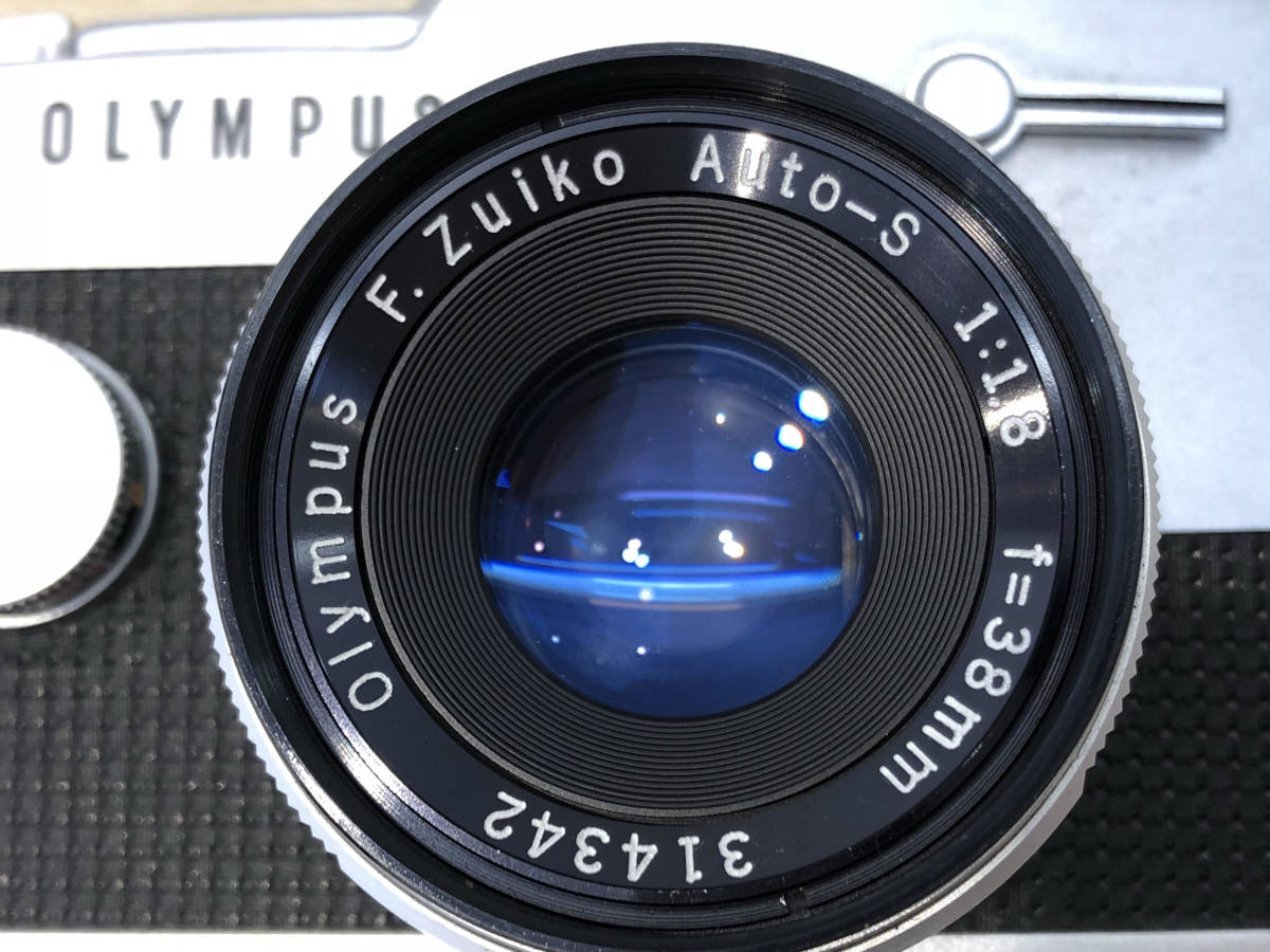 【6021】OLYMPUS PEN-FT + F.ZUIKO AUTO-S 38mm F1.8 動作OK!_画像3
