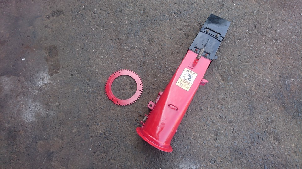 ★ヤンマーYSR80H-E 除雪機部品 シューター(電動)錆とりサフェサー塗装済