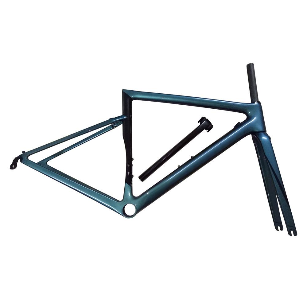 新品 カーボンフレーム フレームセット ロードバイクフレーム 自転車フレーム 700C_画像1