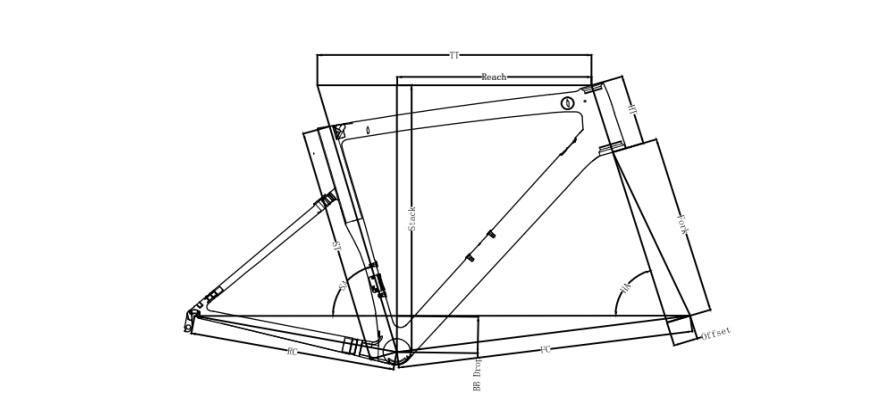 新品 カーボンフレーム フレームセット ロードバイクフレーム 自転車フレーム 700C_画像10