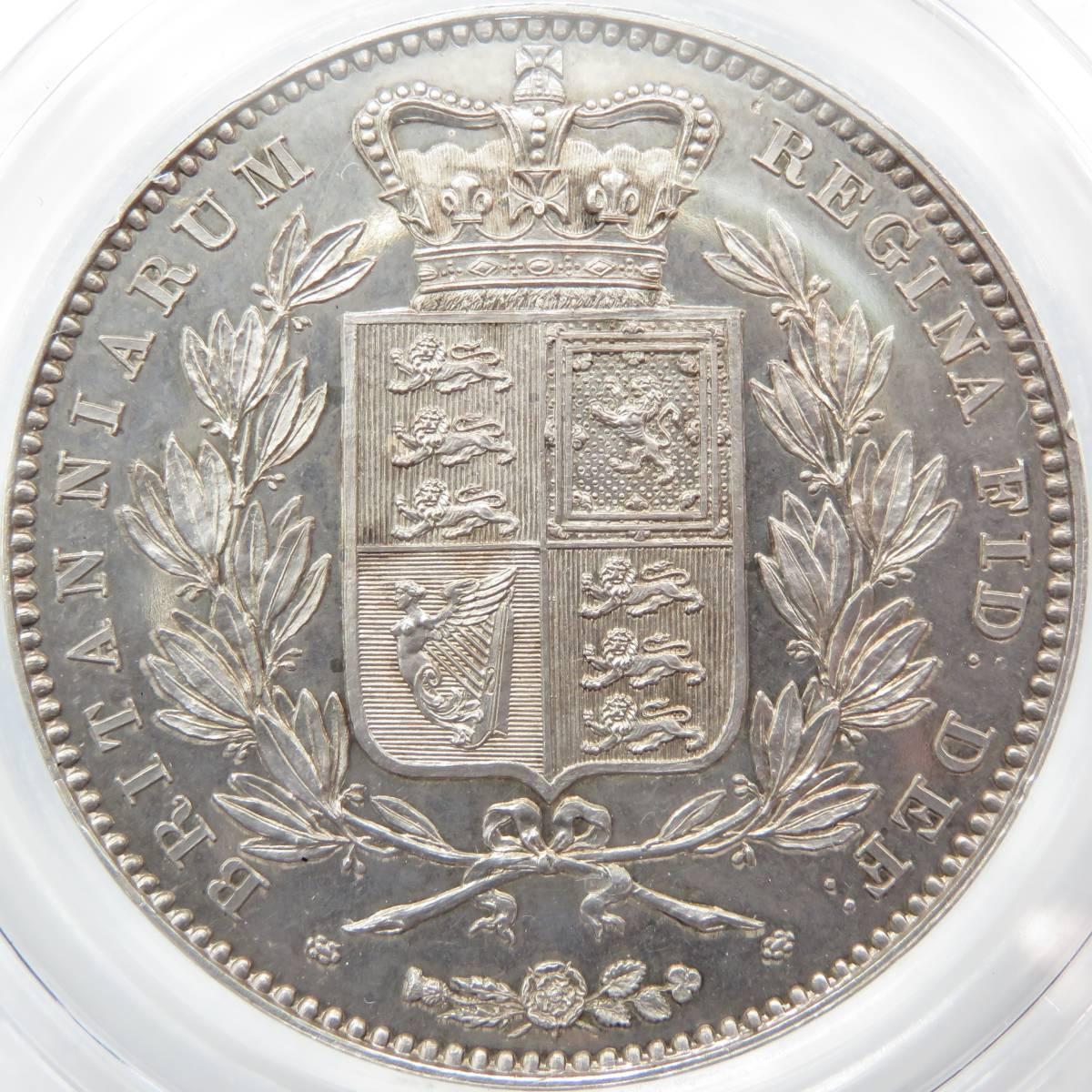 1839年 PF64 クラウン 銀貨 プルーフ ヴィクトリア イギリス CGS-UK UNC80 CROWN 完全未使用 PR64 ヤングヘッド S-3882 PROOF FDC 英国_美しい鏡面&精緻な打刻のプルーフ貨幣!
