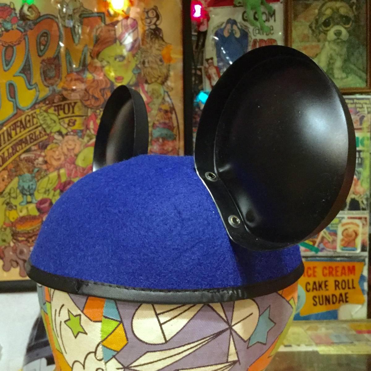 USA ディズニー ワールド 限定 ミッキーマウス イヤー ハット キャップ ブルー MICKEY MOUSE 耳付き 帽子 Disney World ディズニーランド _画像5