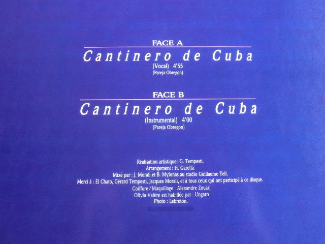 H フランス Cantinero de Cuba  OLIVIA VALERE LP_画像3