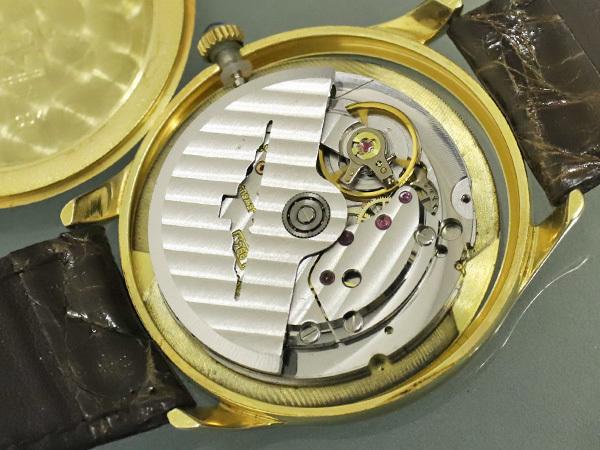 超美品 ロンジン LONGINES 金無垢 K18 イエローゴールド オートマチック ツインバレル 自動巻紳士腕時計 メンズウォッチ 本物 正規_画像7
