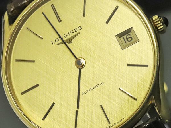 超美品 ロンジン LONGINES 金無垢 K18 イエローゴールド オートマチック ツインバレル 自動巻紳士腕時計 メンズウォッチ 本物 正規_画像3