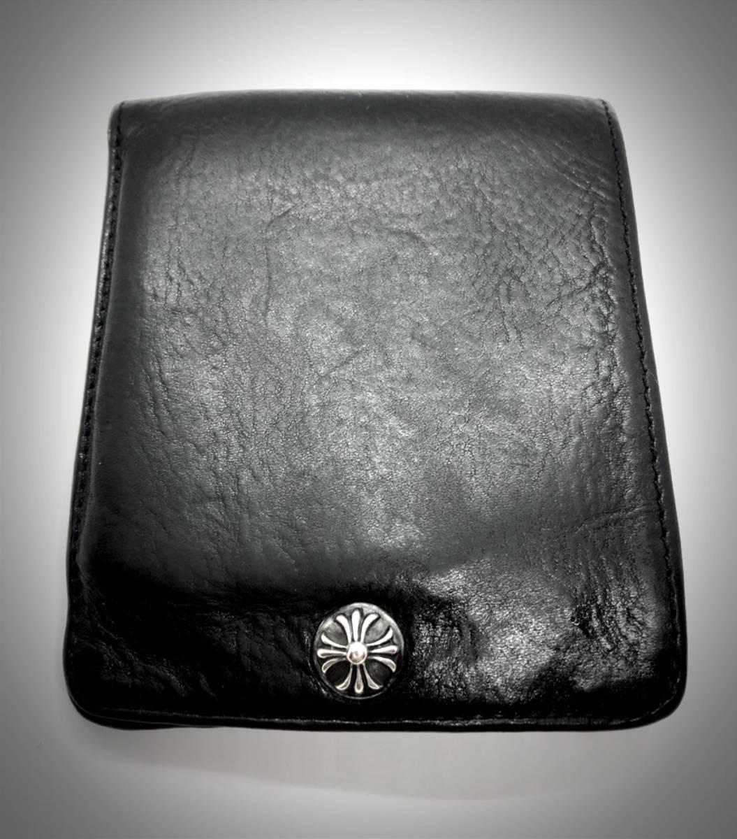 値下げ! インボイス原本(保証書) クロムハーツ 1スナップ 二つ折り 財布 本物