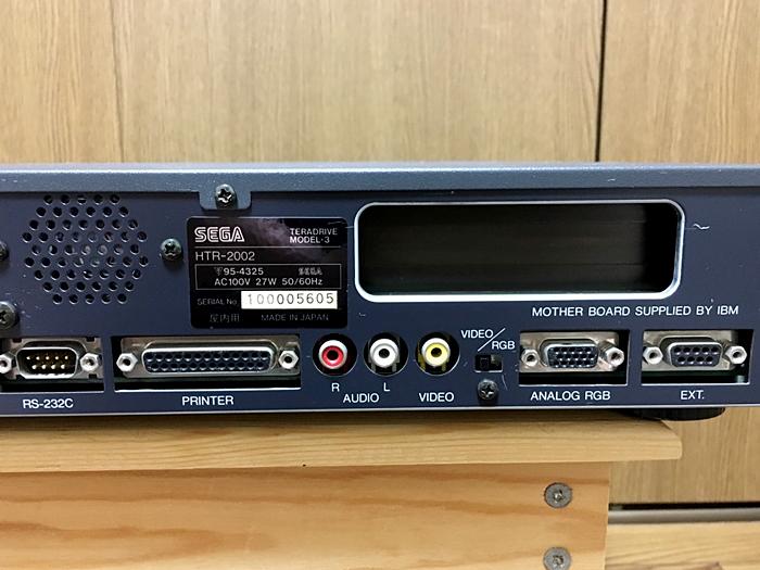 【美品】SEGA テラドライブ MODEL-3 HTR-2002 通電確認 動作未確認_画像8