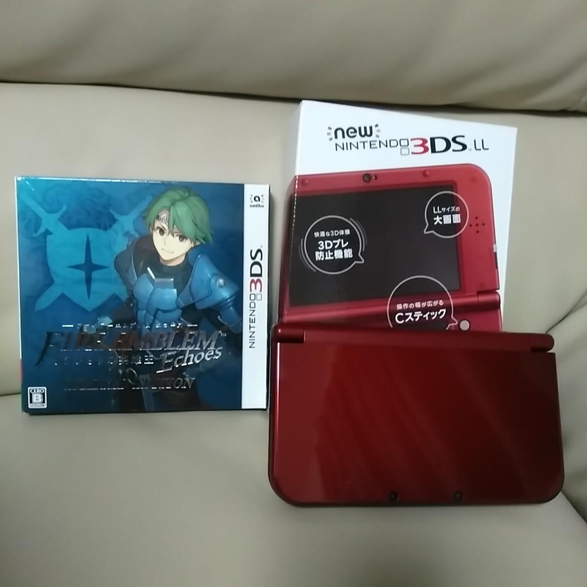 1円スタート NEW Nintendo3DS LL ニューニンテンドー3DS LL メタリックレッド + ファイアーエムブレム エコーズ リミテッドエディション
