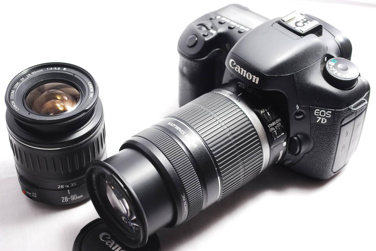 美品★Canon キヤノン EOS 7D 250mm超望遠ダブルレンズセット 付属品一式付き★おまけ多数+安心保証♪
