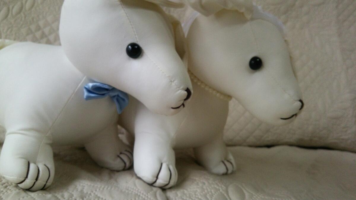 ウェルカムドール ウェディング結婚式 披露宴 ダックスフンド ぬいぐるみ メッセージ 犬_画像2
