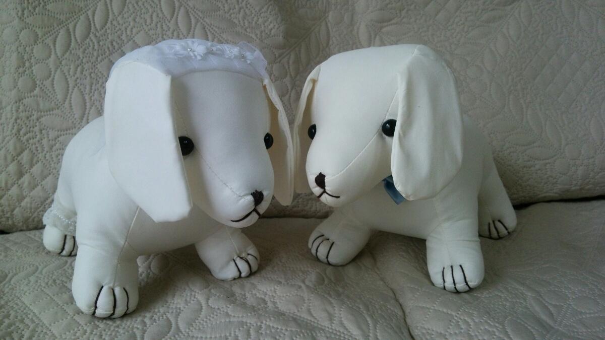 ウェルカムドール ウェディング結婚式 披露宴 ダックスフンド ぬいぐるみ メッセージ 犬_画像3
