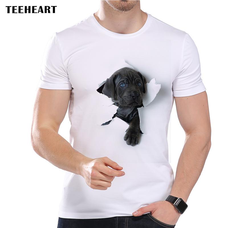 ♪3D 犬 おもしろ メンズTシャツ S M L LL 2L 3L ホワイト 白 ラブラドール レトリバー ☆新品未使用品☆送料無料☆★_画像1
