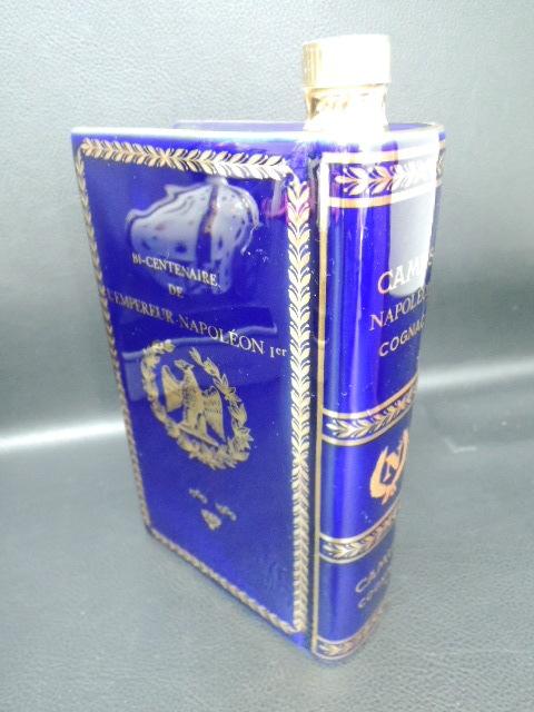 古酒 CAMUS カミュ ブック / SEMPE サンペ 王冠 クラウン ナポレオン 陶器ボトル 2点セット リモージュ 未開栓_画像5