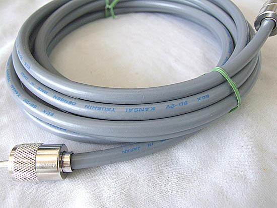 移動用、固定用に コネクタ付 5D-2V (灰色) 12m 同軸ケーブル MP-MP_画像1