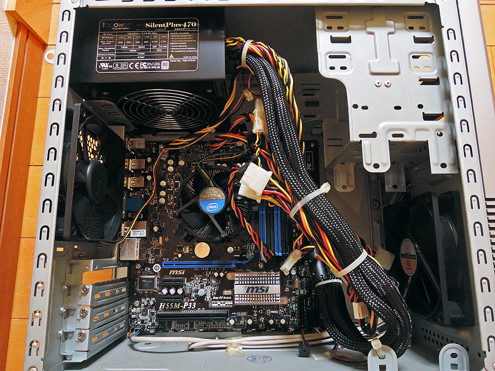 ジャンク・自作PC ツクモ eX.computer デスクトップ 送料込み! 自作、改造、PCケースやパーツ取りに是非!_画像3
