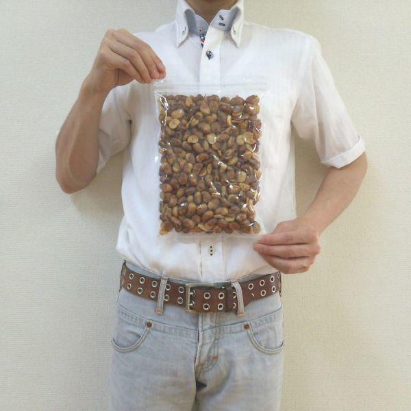 いかり豆 (揚げそら豆) 400g 無漂白品 チャック袋 400gX1袋 九州工場製造品 黒田屋_画像3