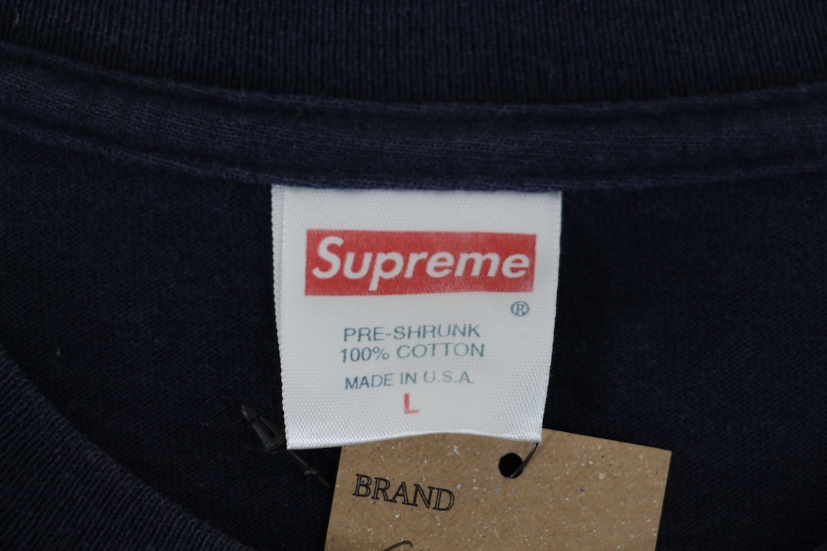 超希少品 supreme gucci box logo tee ボックスロゴ tシャツ l ネイビー