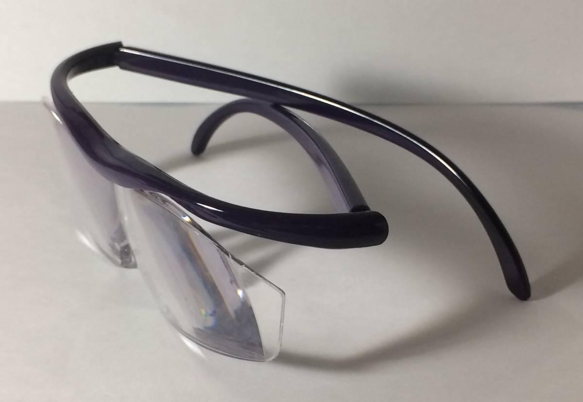 【1円~最落無し】 メガネ型 拡大鏡 紫 1.8倍 ほぼハ◯◯ルーペ ヘッドルーペ 老眼鏡代わりに 眼鏡に重ねて ハンズフリー_画像4
