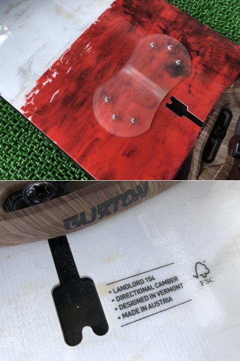 [中古美品] BURTON 2016 スノーボード LANDLORD 154 バートン the HINGE 2016 ビンディング付き [札幌発引取り歓迎]_画像4