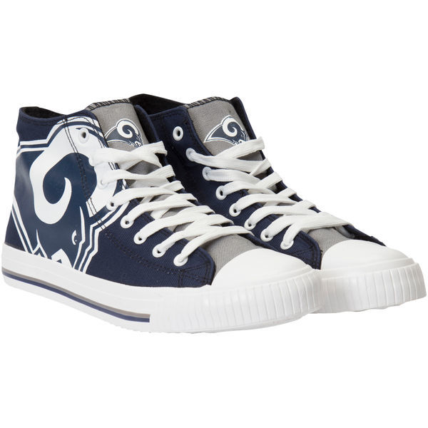 SN557)Forever Collectibles Los Angeles Rams Big Logo High Top スニーカー/ロサンゼルス・ラムズ/NFL/27cm