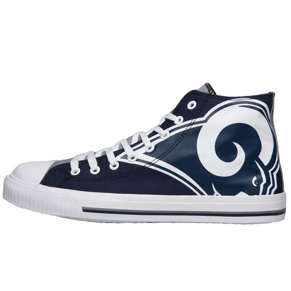 SN557)Forever Collectibles Los Angeles Rams Big Logo High Top スニーカー/ロサンゼルス・ラムズ/NFL/27cm_画像2