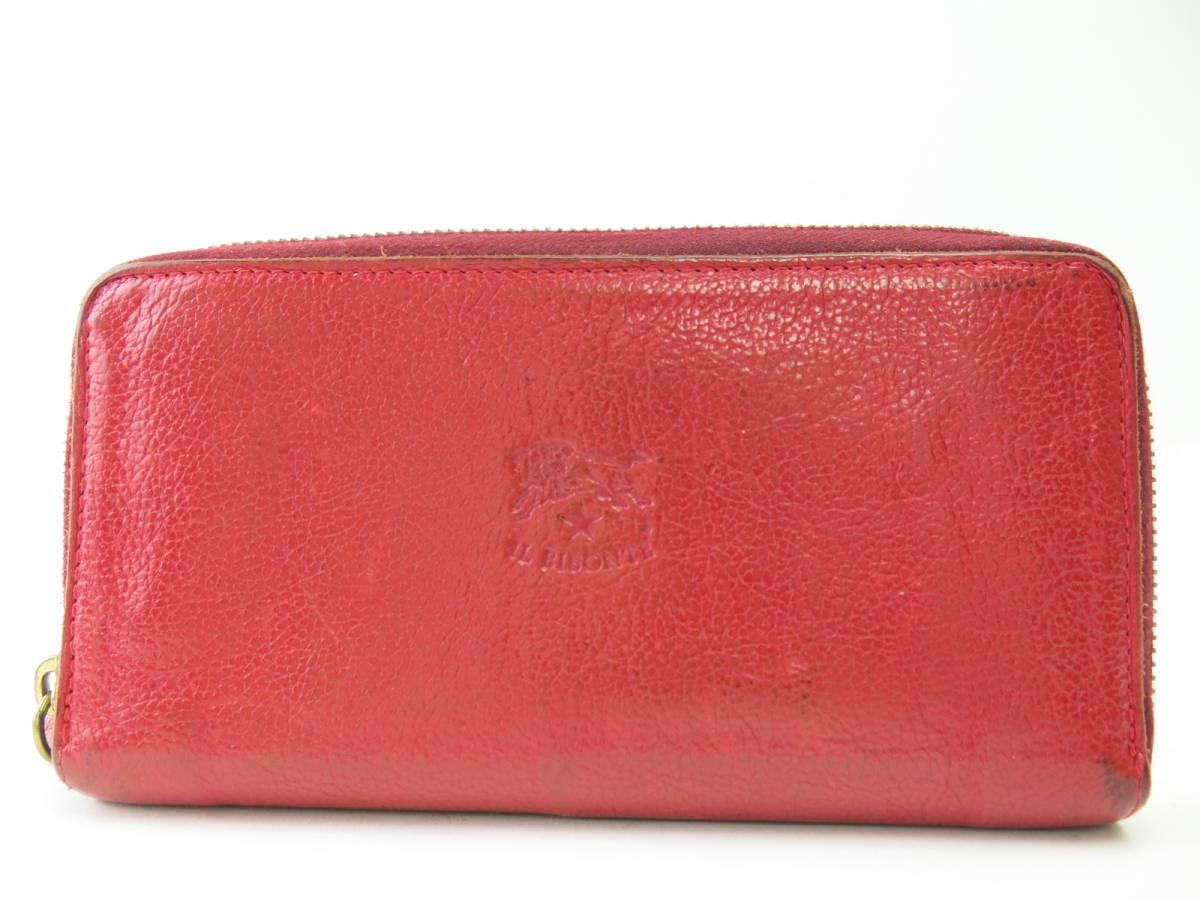 e367fe6939ca 代購代標第一品牌- 樂淘letao - H18 イルビゾンテレザーラウンドファスナー二つ折り長財布レッドメンズレディース