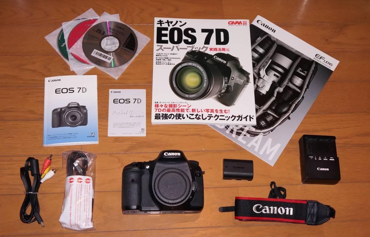 ★送料無料★即決 保証付 綺麗な中古品★キヤノン APS-C デジタル一眼レフ 最上位機種 Canon EOS 7D ボディ 最新ファームウエアver.2.0.6★