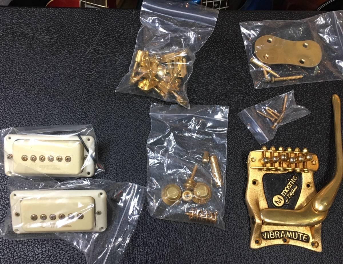 Mosrite Gold Parts 、Pick Up モズライト用 パーツ モズライト ピックアップ 一式 全て揃っています。_画像1