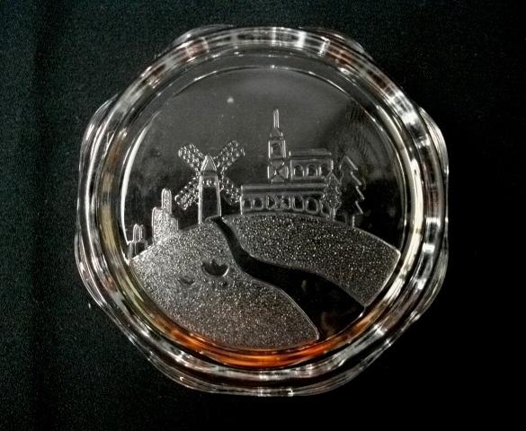 深皿/小皿/小鉢★10cm/ウェーブカット/平底/ガラス製★_画像8